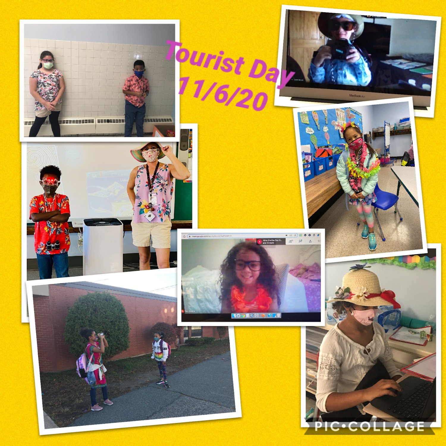 Some of the many Tourist Day pictures from in person and distance learners.