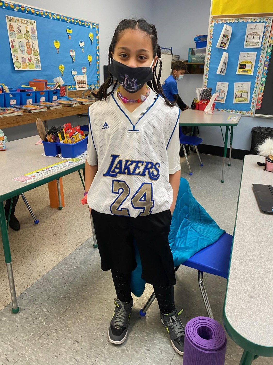 Ariella is sporting her school spirit on sports day.
