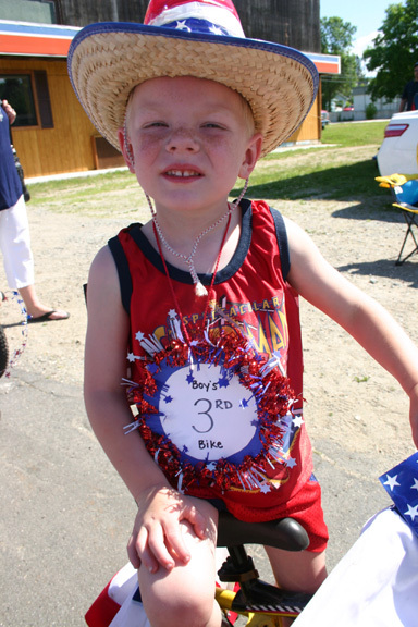 Alex took third place in the boys bike category