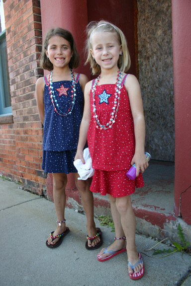 Twins Claire and Grace turned 7 on July 4th