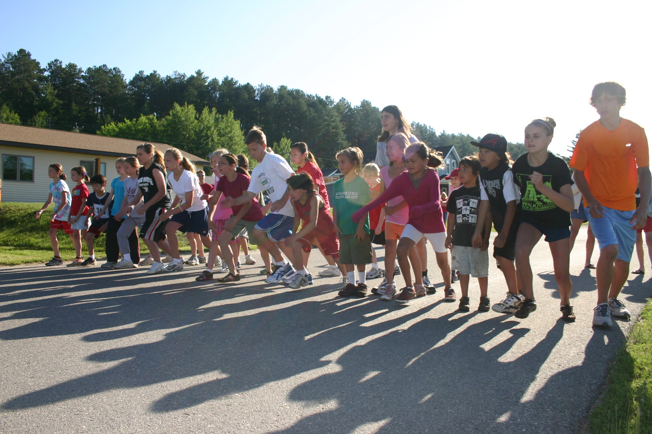 Over 20 children took part in the one mile fun run
