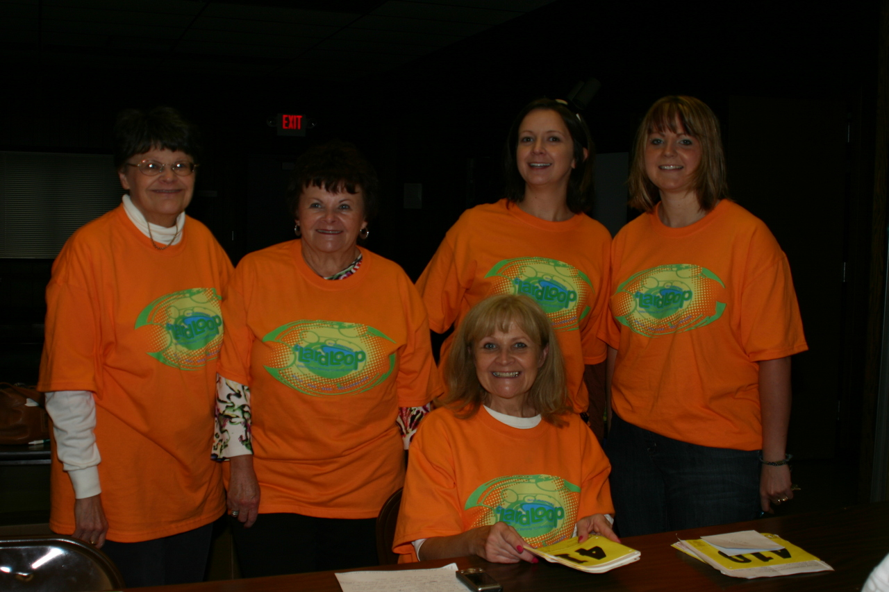 Some of the many volunteers who made the race possible