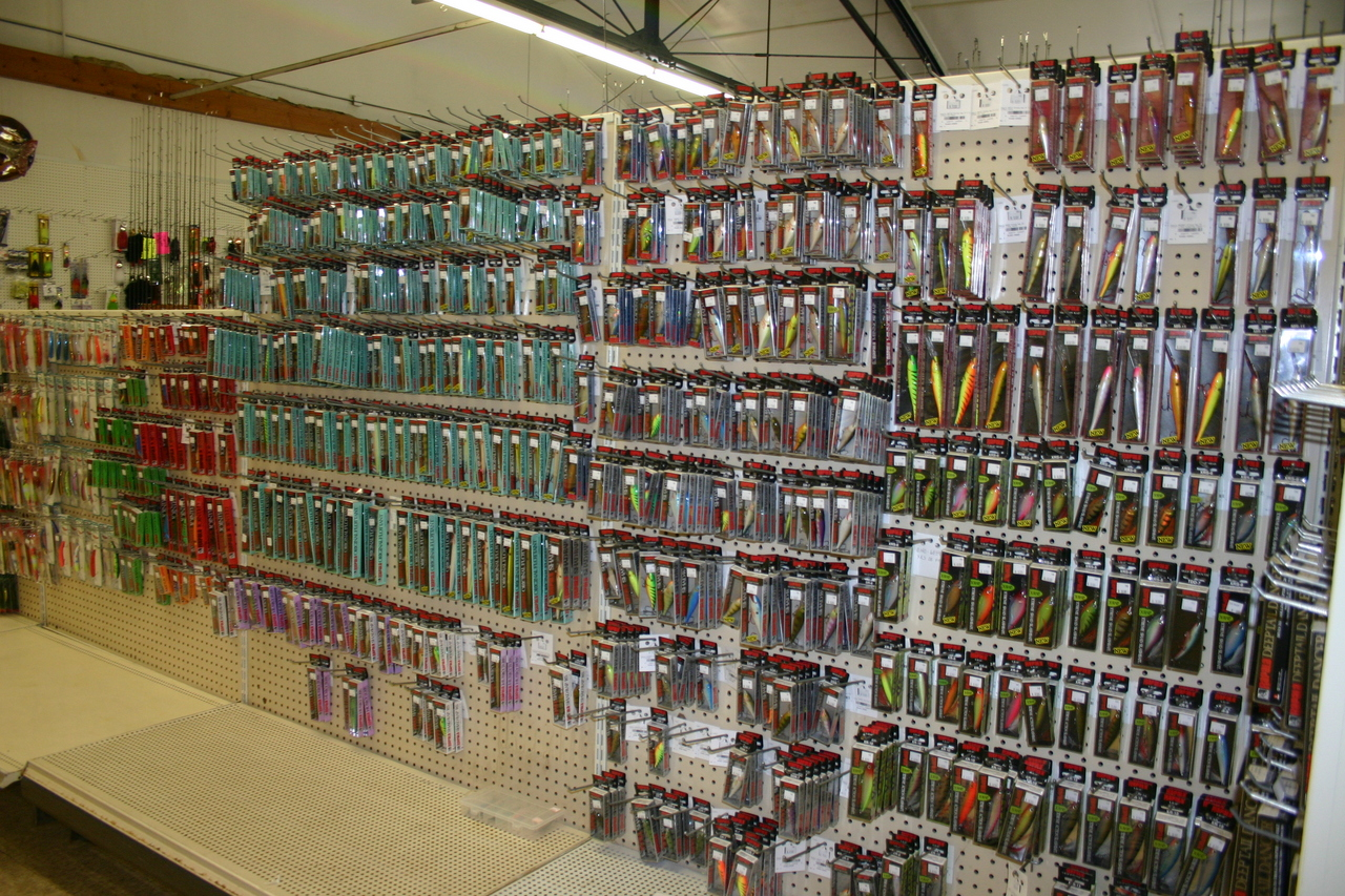 Aisles and aisles of tackle.