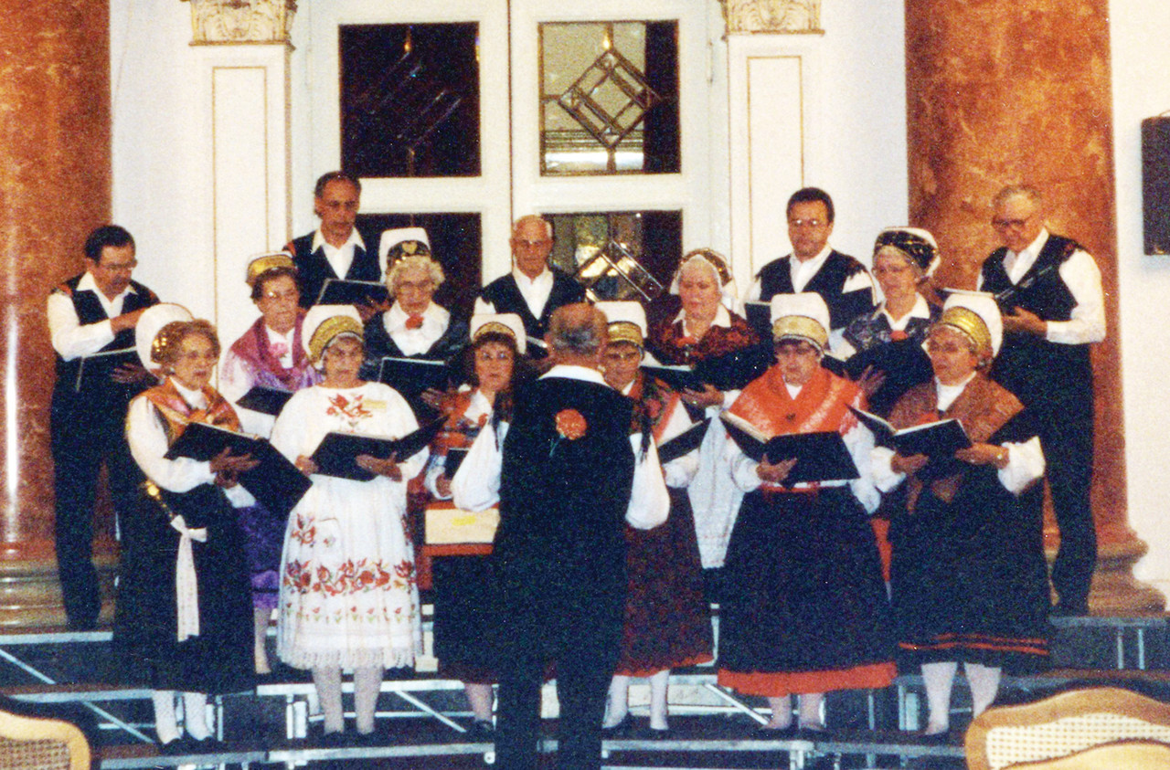 The Ely Slovenian Chorus at a 