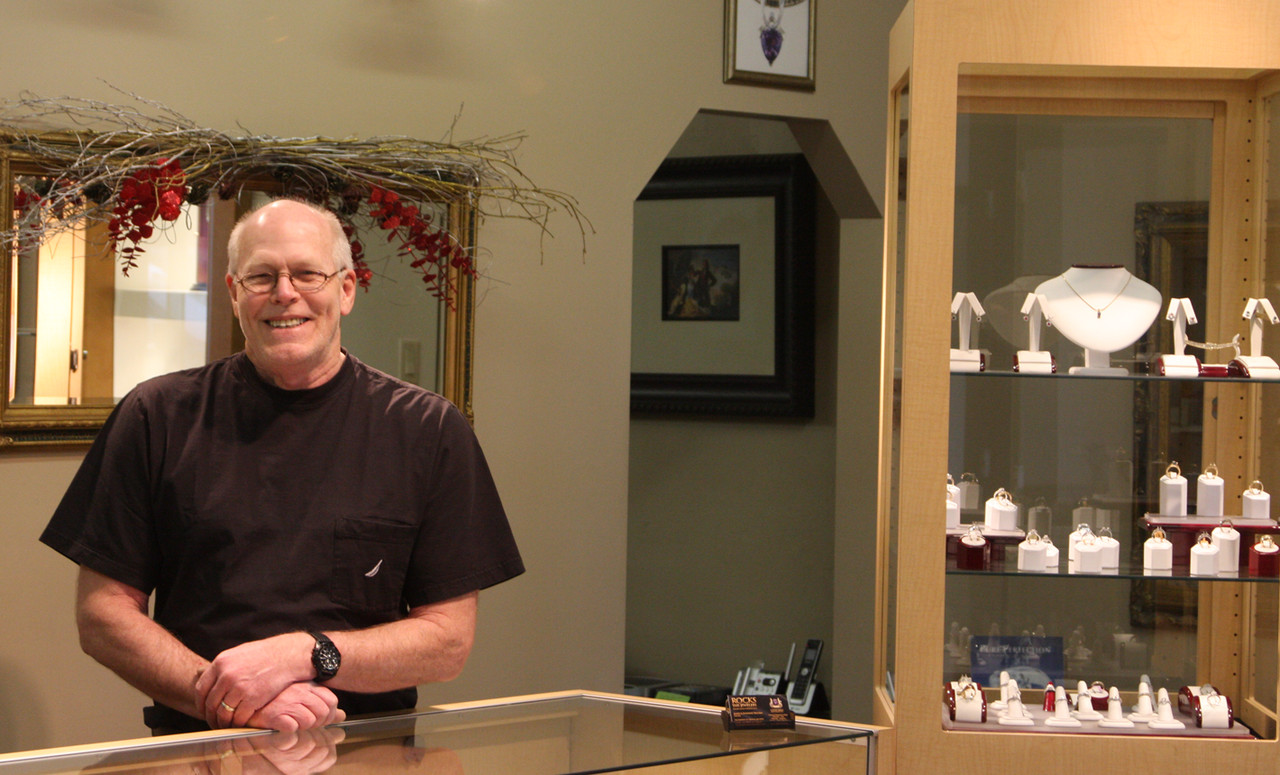 You'll find Jim Paulsen behind the desk most days at Rocks the Jewelers in downtown Virginia.