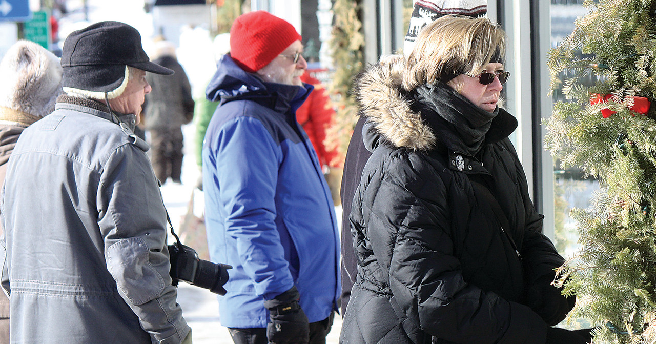 Ely visitors brave sub-zero weather last weekend during the ArtWalk. This weekend's temperatures are forecast to be much milder.