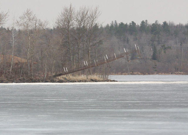 Ice remained across most of Lake Vermilion's Pike Bay as of Friday. 