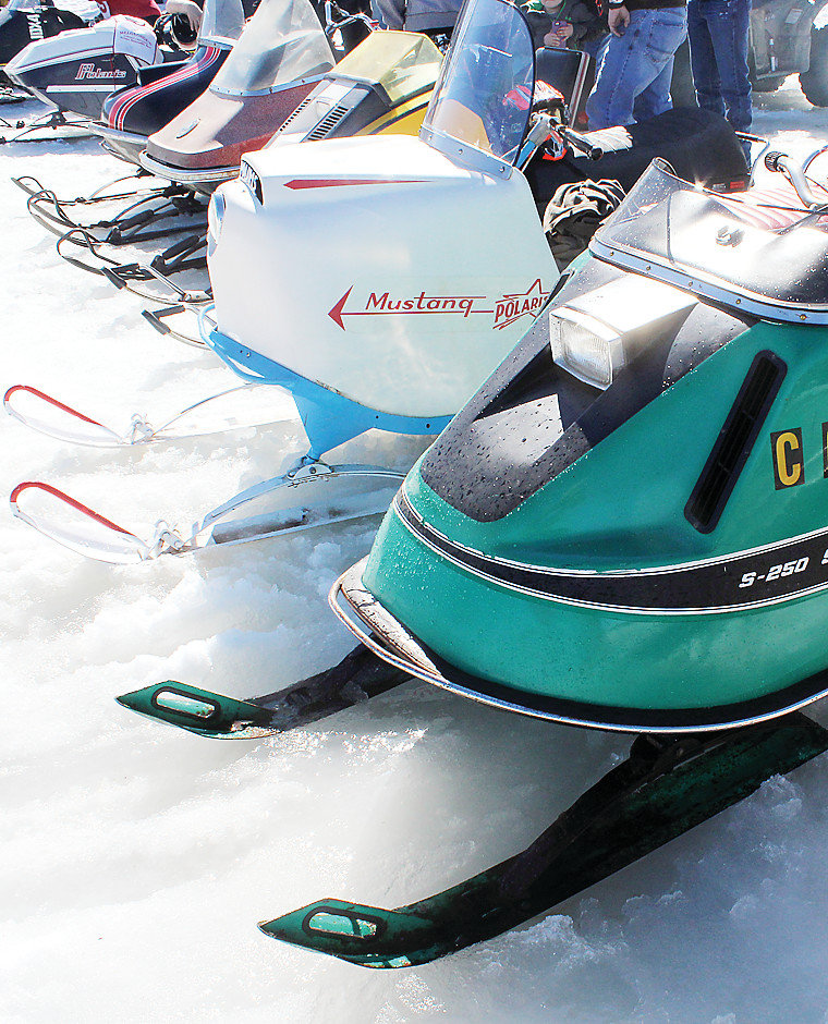 Snowmobiles from the past were on display at Melgeorge's Antique and Classic Snowmobile Races on Saturday.