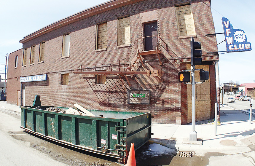 The former VFW hall in Ely is one of many buildings around town undergoing a rebirth.