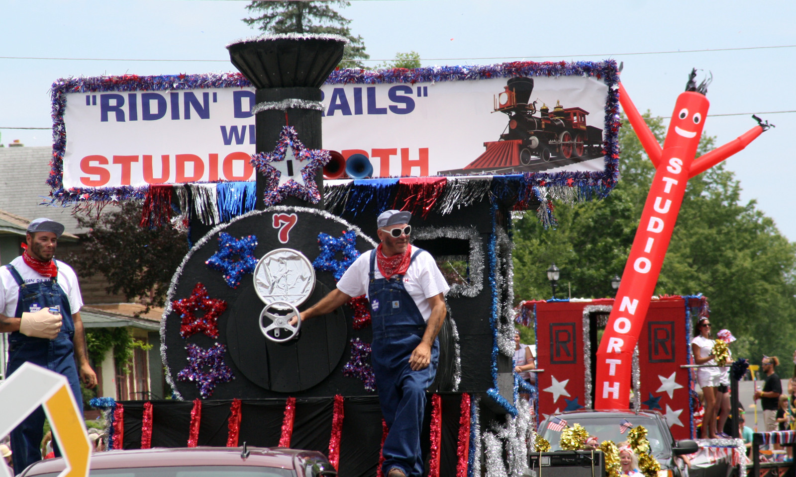Studio North's float in the Ely parade