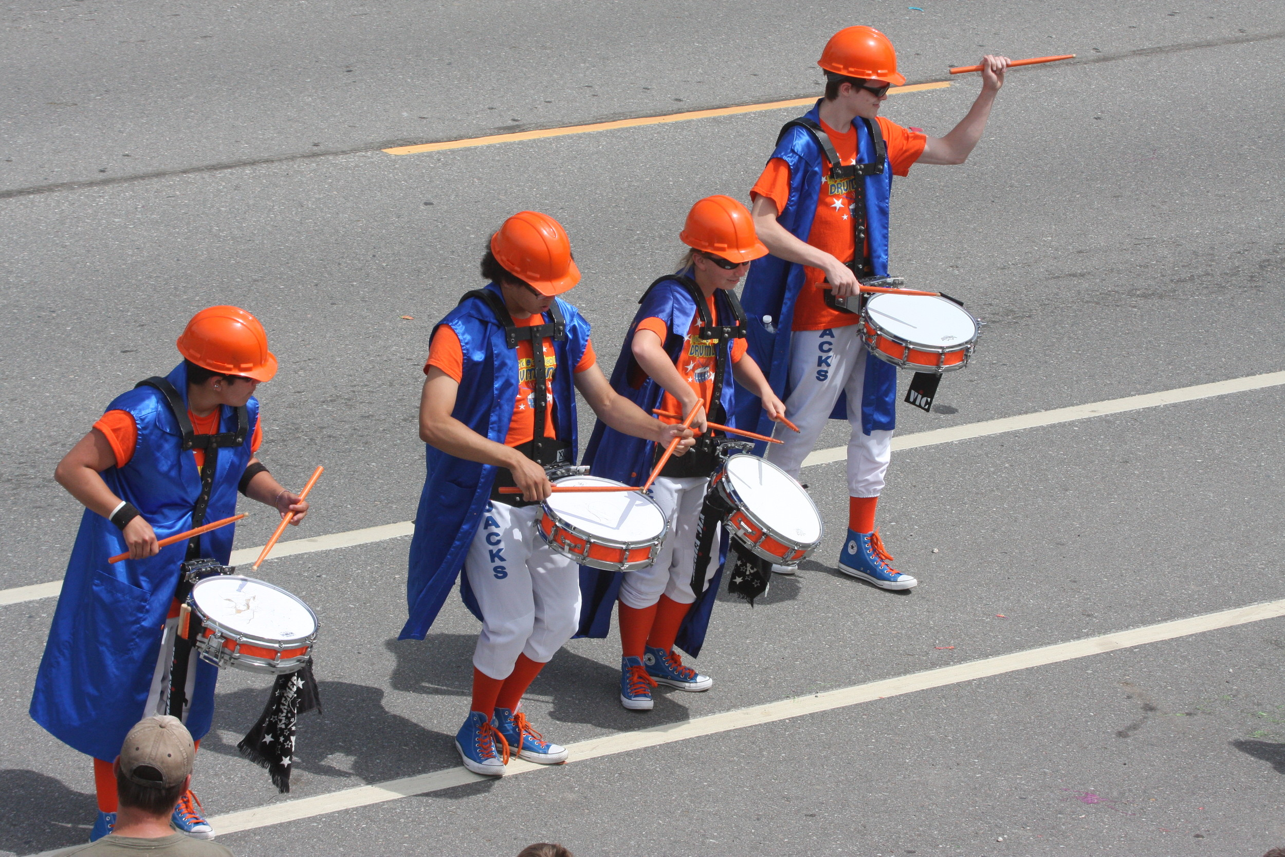 Drummers in the Tower parade