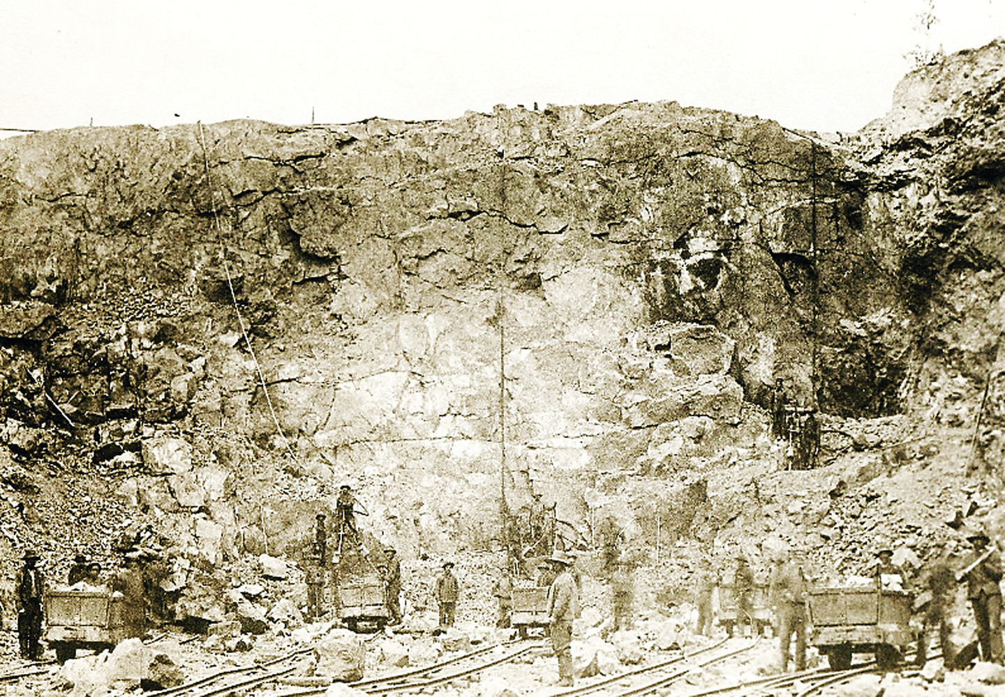 The Lee Mine, located on the hill north of Tower, abruptly closed in the 1880s just shortly after 