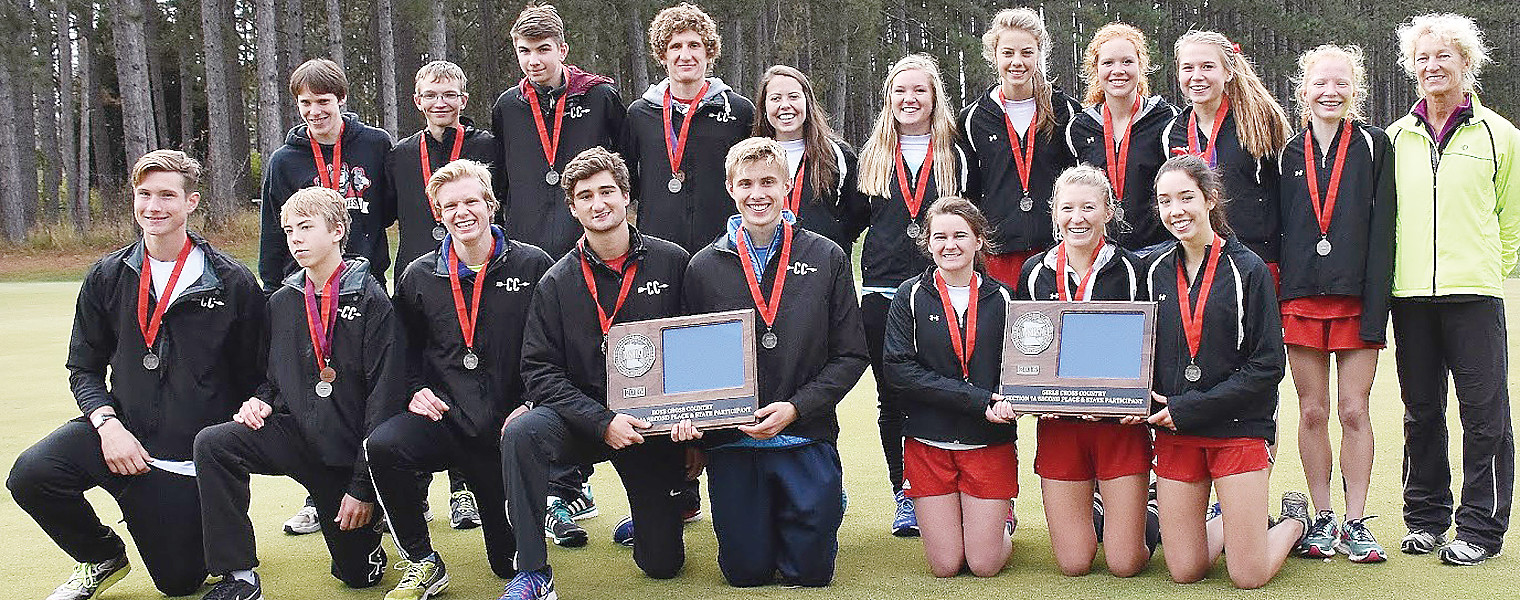 The Ely boys and girls each earned repeat trips to state at Thursday's Section 7A meet with      runner-up finishes.
