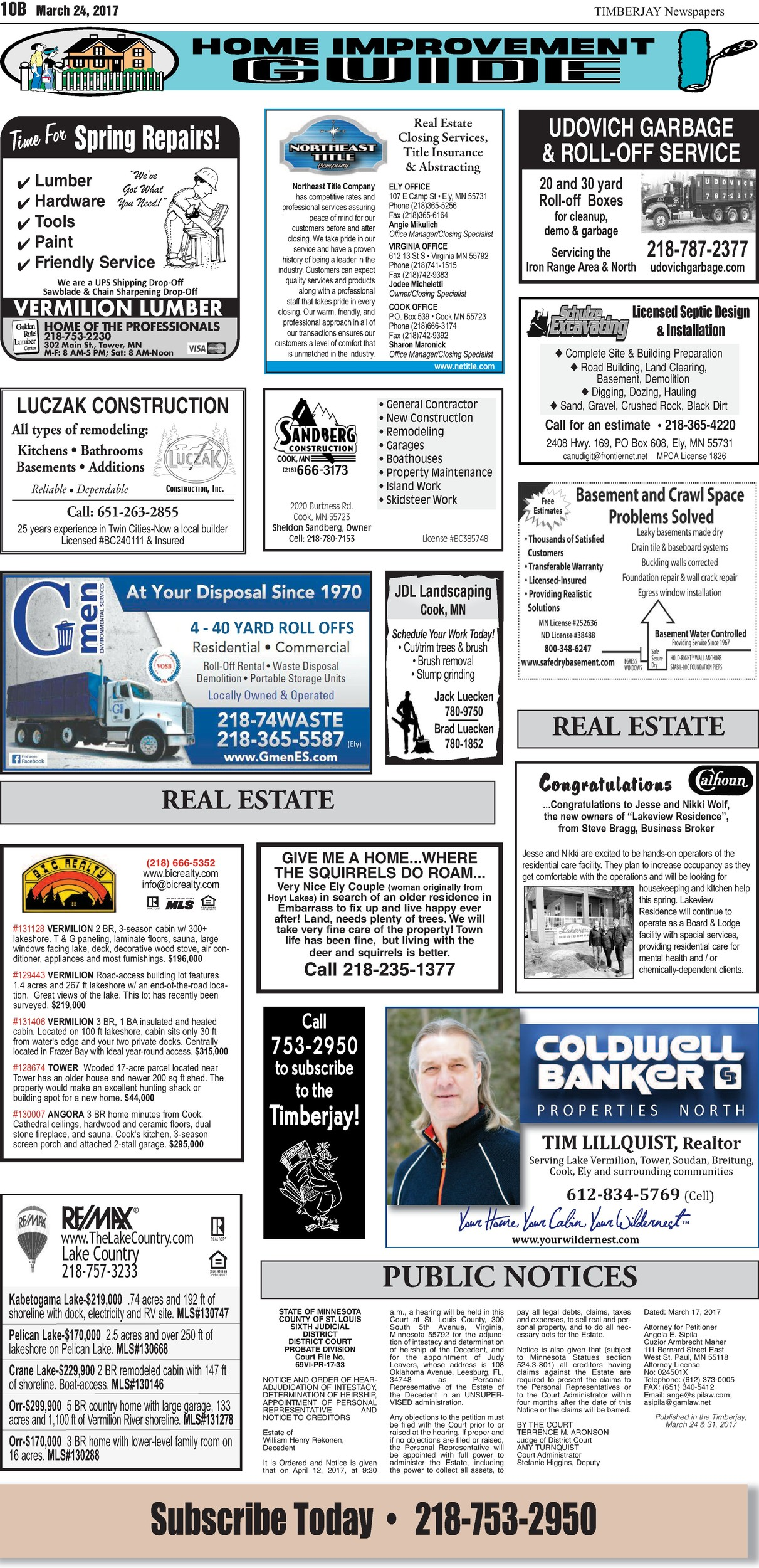 Click here to view the legal notices and classifieds on page 10B
