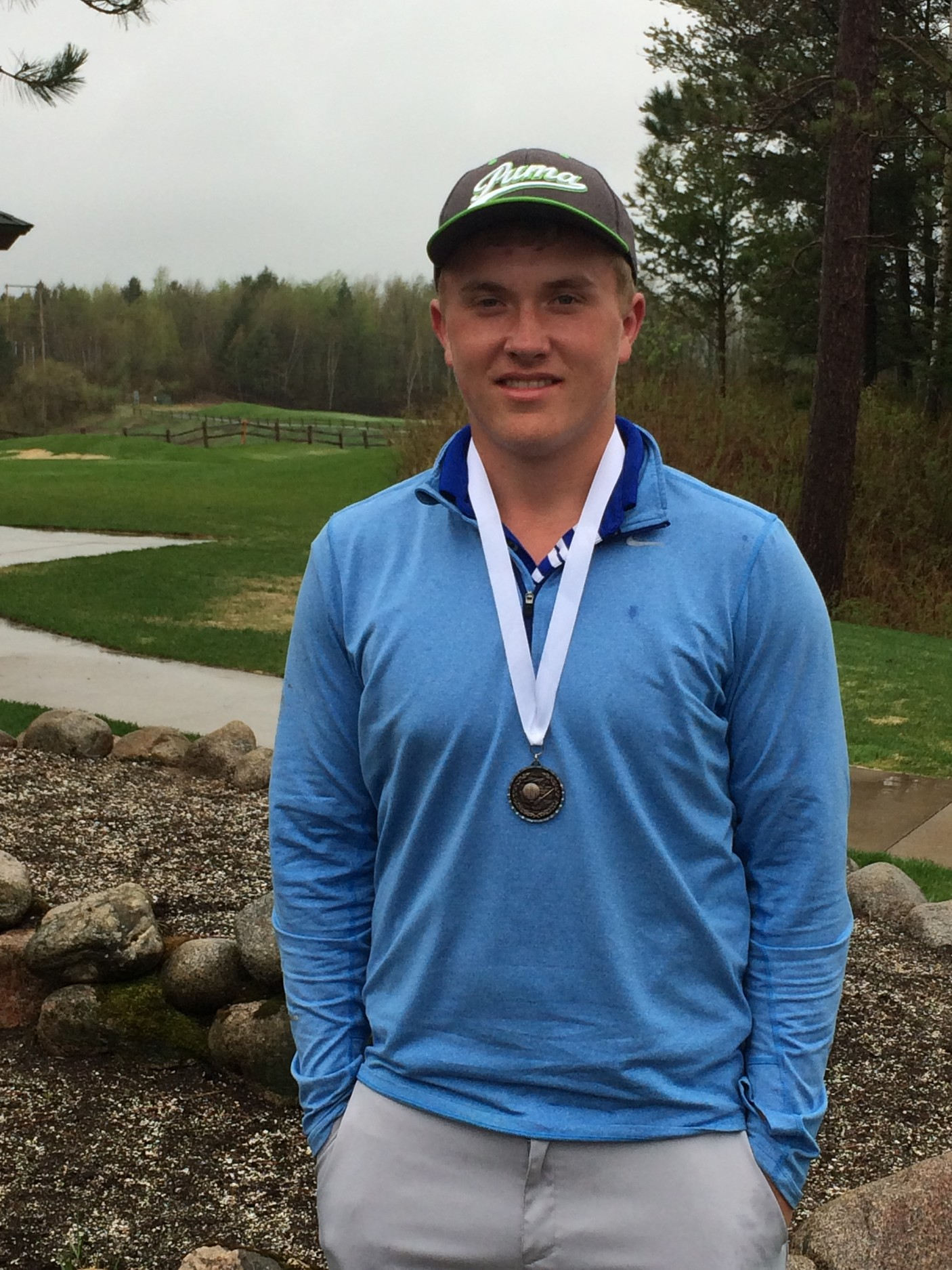 North Woods junior Tate Olson won the East Range Conference Tournament championship on Wednesday at The Quarry in Biwabik, shooting a round of 77.