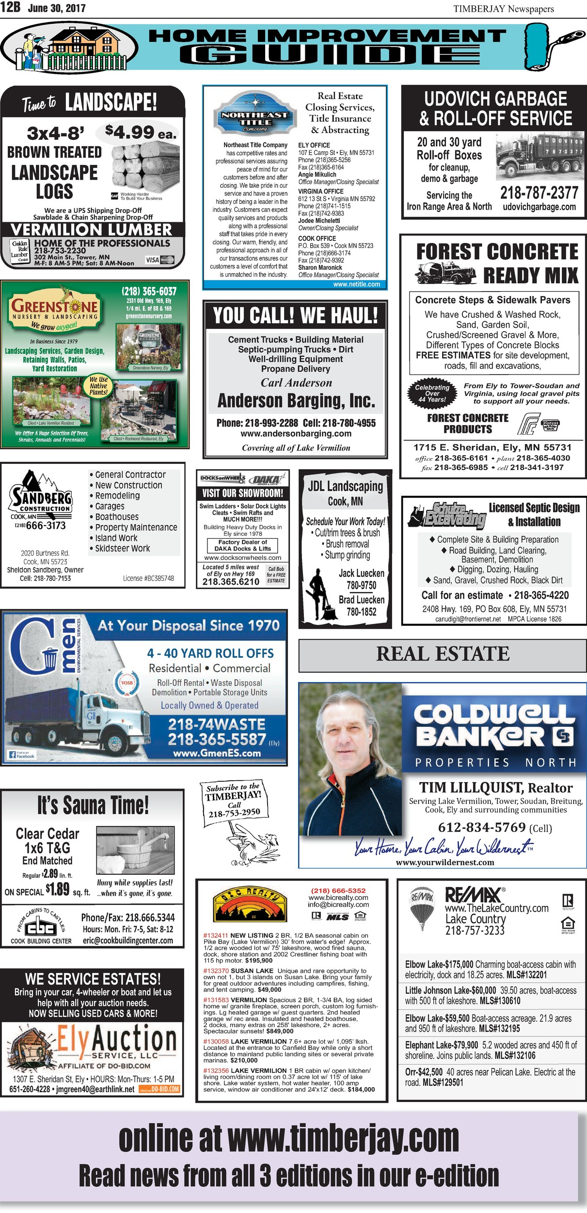 Click here for the legal notices and classifieds from page 12B