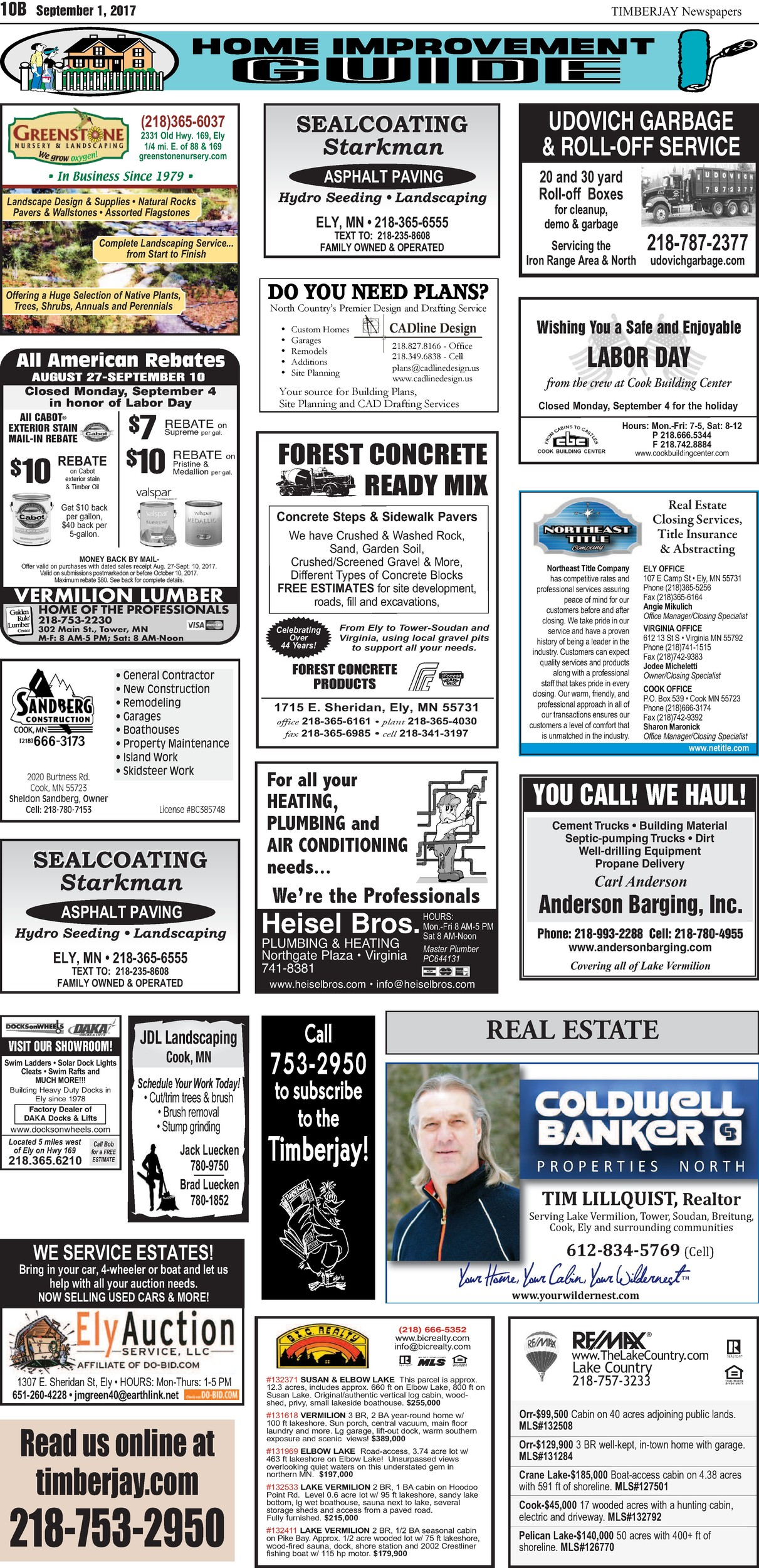 Click here for the legal notices and classifieds from page 10B