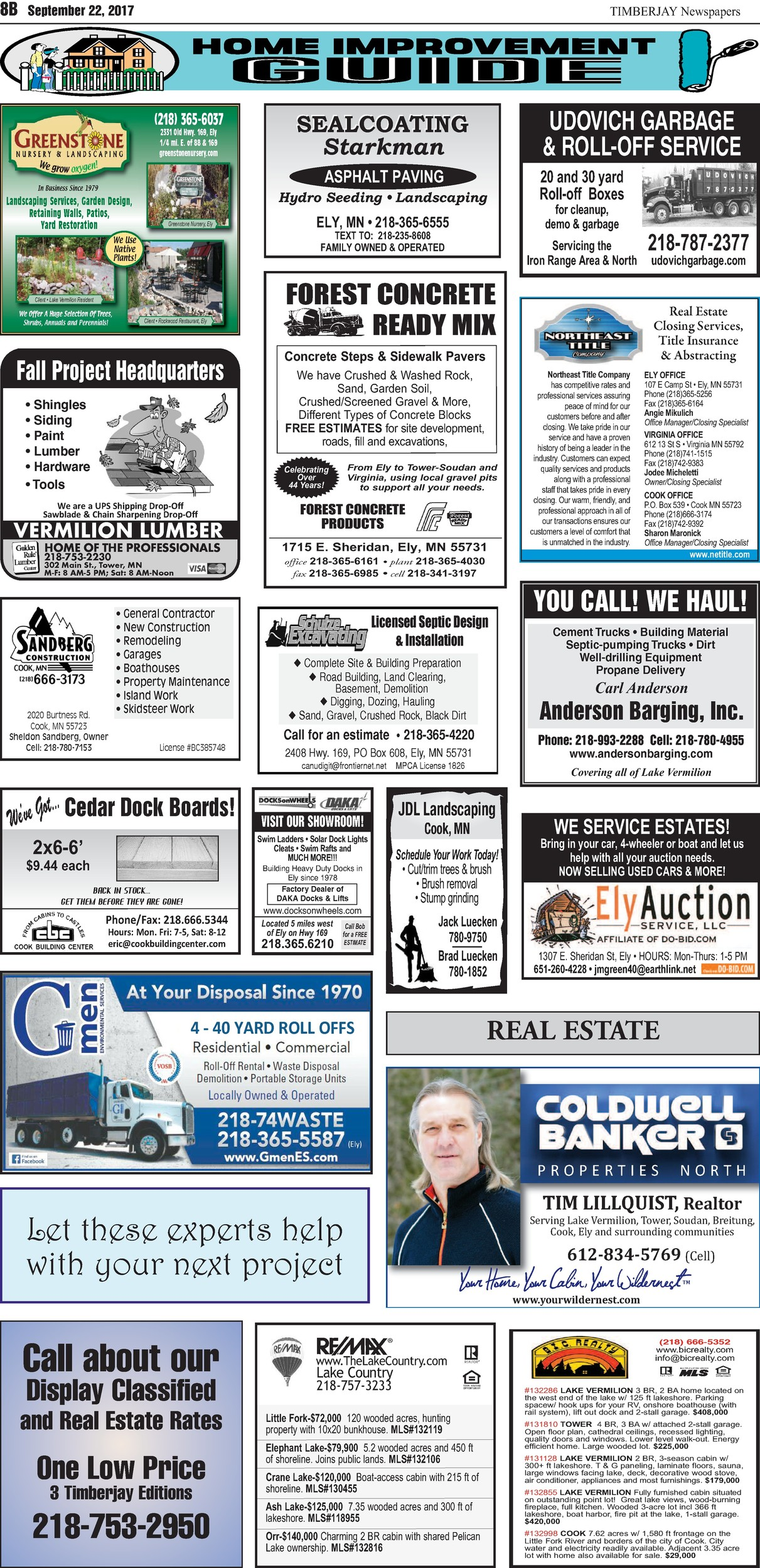 Click here to download the legal notices and classifieds from page 8B