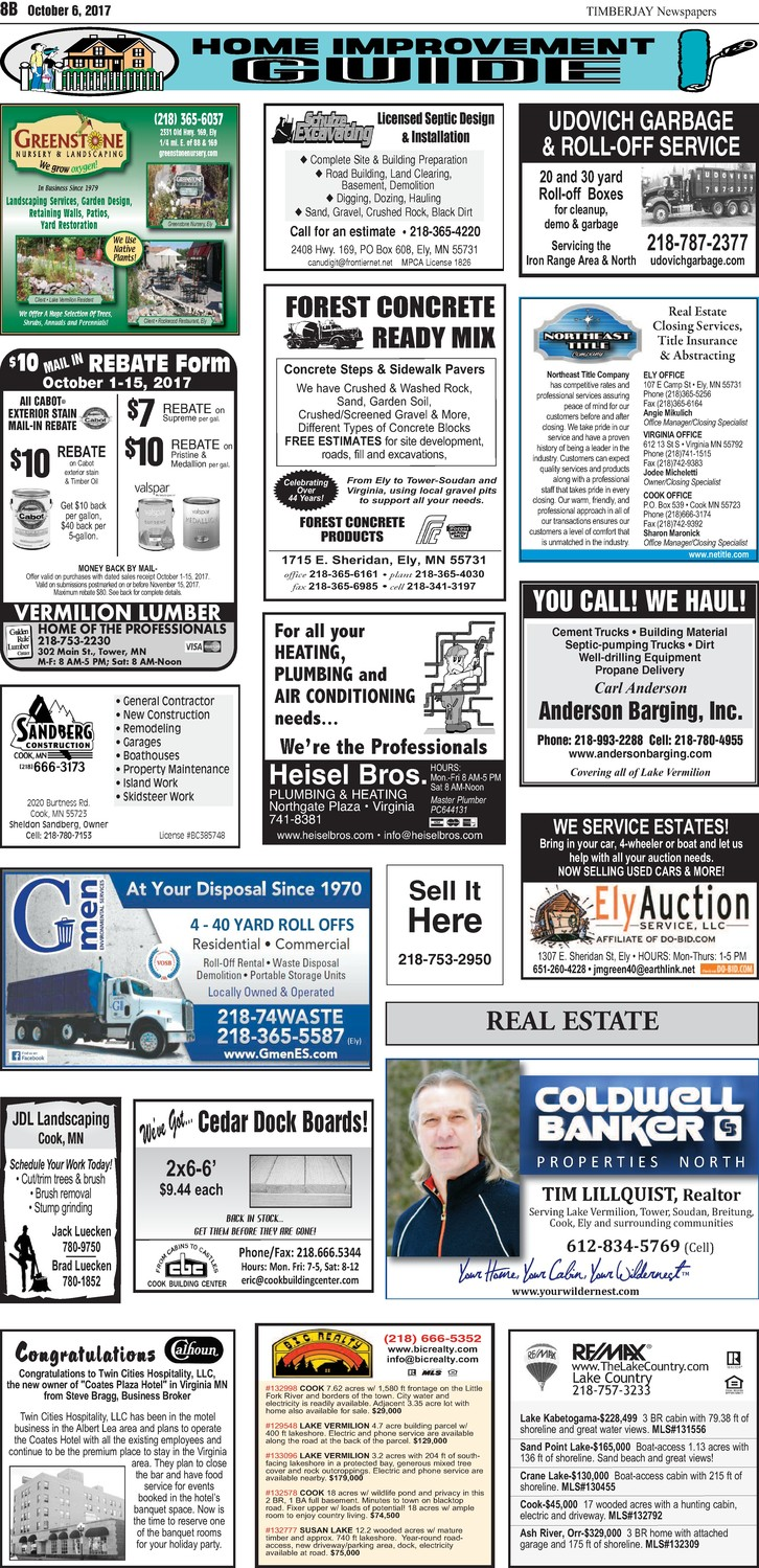 Click here for the legal notices and classifieds from page 8B