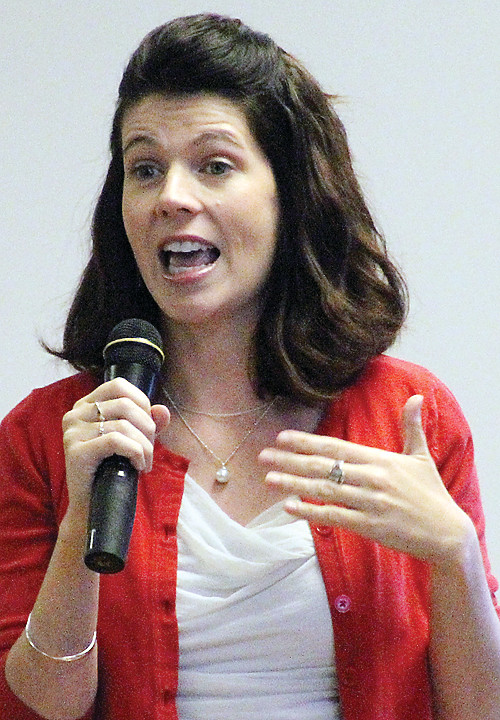 Leah Phifer talked to about 100 members of the Ely's Tuesday group this past week.