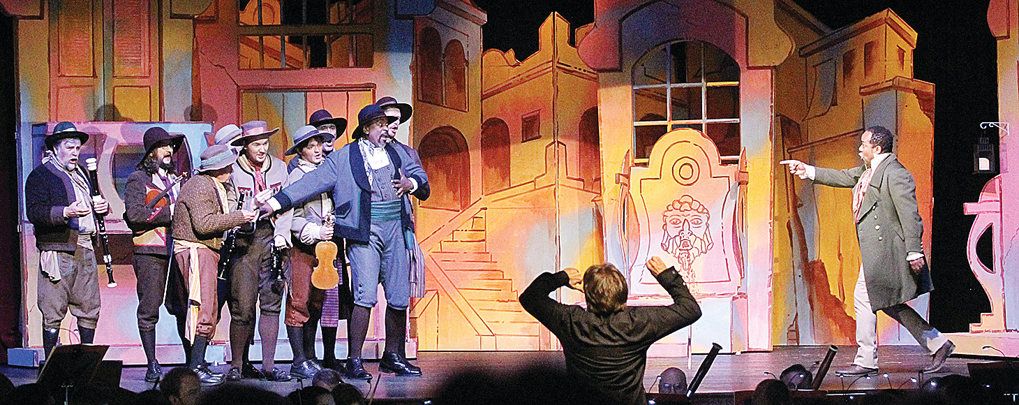 "The cast of ""The Barber of Seville"" performed at Washington Auditorium Monday night."