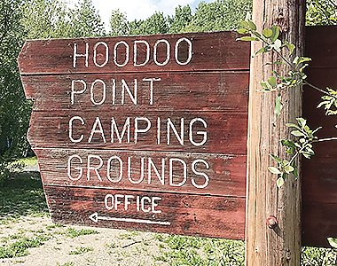 New RV sites at Hoodoo Point.