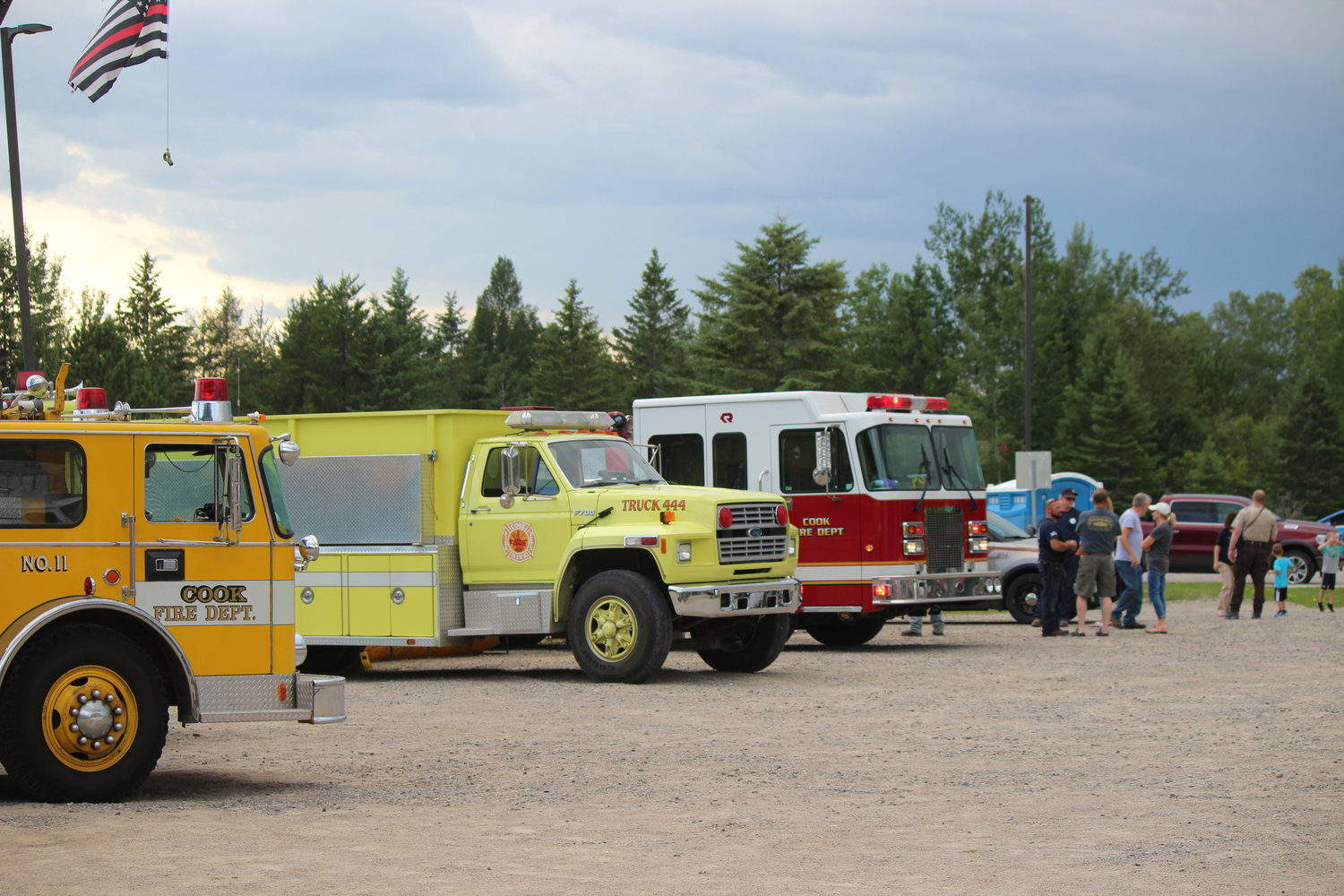 Visitors were given the opportunity to explore emergency vehicles in the Cook Community Center parking lot.
