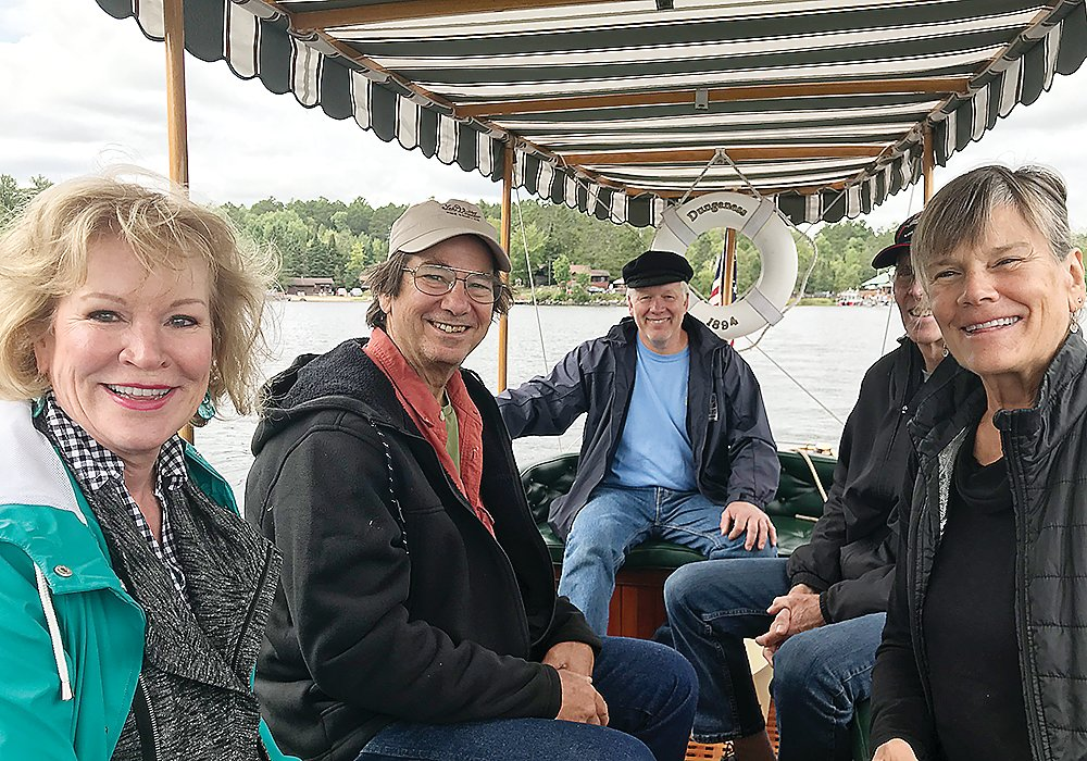 Passengers, and Captain Tom Juul, were all smiles aboard this former tender for a yacht once owned by Andrew Carnegie.