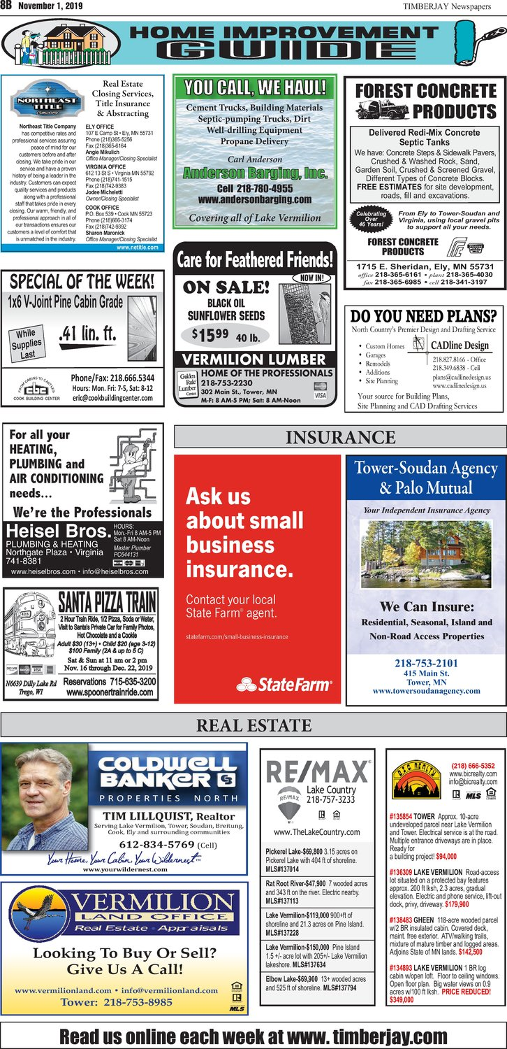 Click here for the legal notices and classifieds on page B8