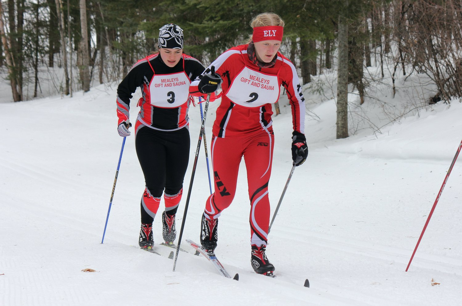 Zoe Devine races in the Section 7 Nordic ski meet.