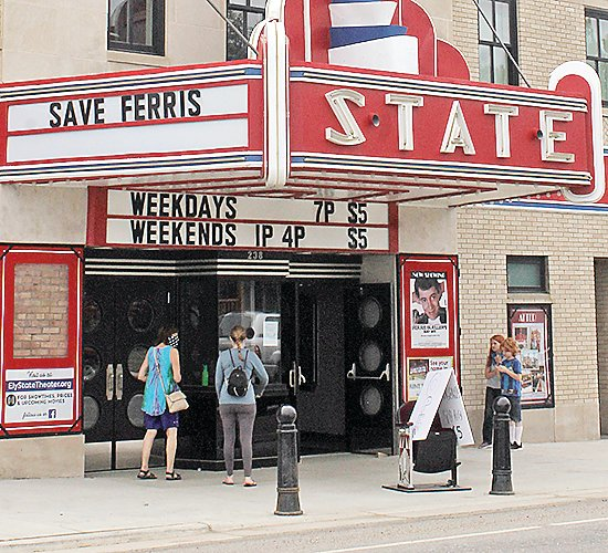 Movie-goers in Ely took advantage of the recent reopening of the State Theater.