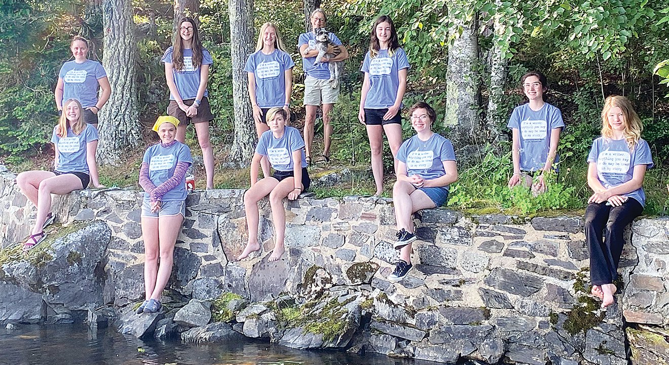 Aspiring writers from the Ely area recently participated in a writer's retreat on an island near International Falls with author Mary Casanova.