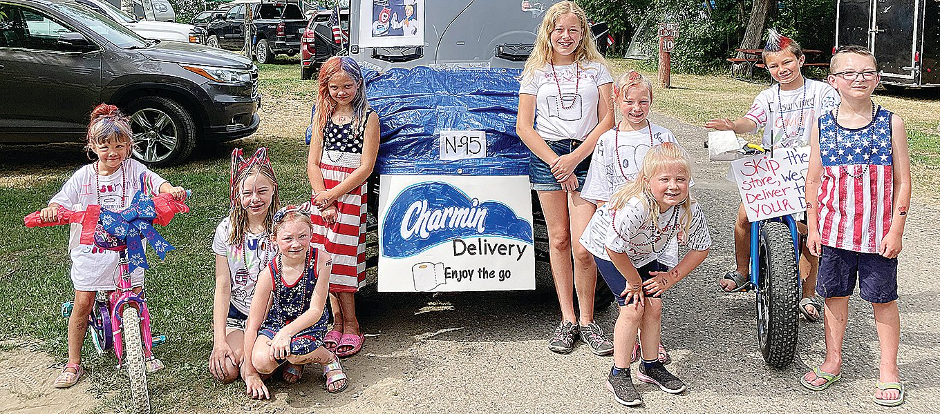 The Hoodoo Point Campground Charmin Crew included, Cole and Danika McCarter; Jemma and Haley Glatch; Kai, Kash and Kinsley Suihkonen; and Maddie and Tristan Lackner.