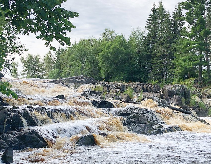 he largest drop on the Little Fork River, known as 