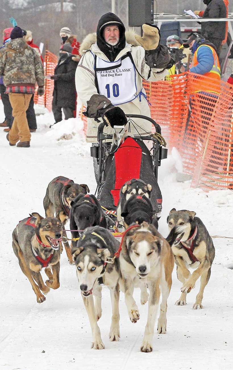 The 2021 WolfTrack Classic eight-dog race winner was Michael Bestgen. He also won the 50-mile event in 2020.
