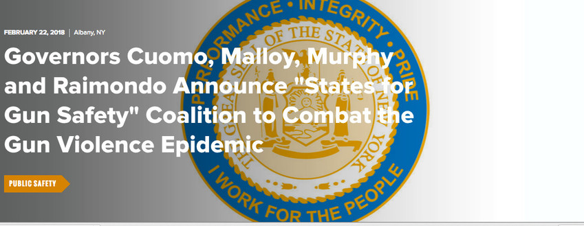 Governors Cuomo, Malloy, Murphy and Raimondo Announce
