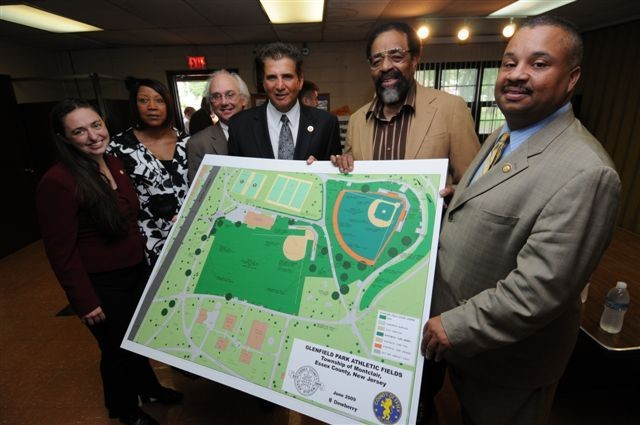 In this photo, Wally Choice is the second person on from on the right. This photo was taken in 2009, as Essex County Executive Joseph DiVincenzo Jr. (third from left) shared plans for Glen Field Park.
