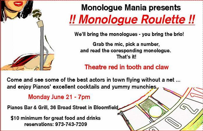 TONIGHT - it's time for Monologue Roulette - see details, story.