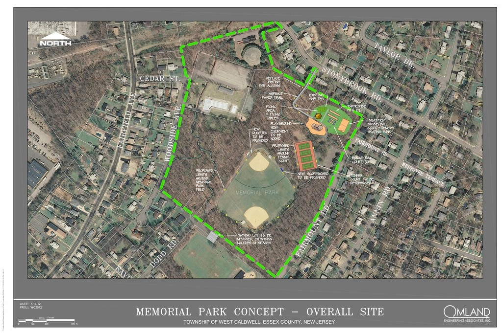 A rendering of the Memorial Park concept.