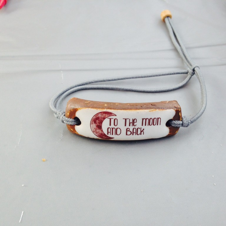 This hand made bracelet was sold at the 5K run today. The saying offers a message of hope - that nothing, including finding a cure  for this deadly brain cancer, is impossible.