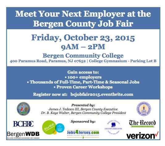 bergen county to host job fair at bergen community college montclair