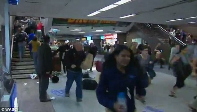 People ran, leaving bags on the floor, as rumors of a gunman spread in Penn Station early evening yesterday.