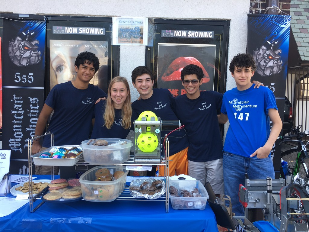 Members of the Montclair High Robotics Team sold baked goodies to raise money for their club.