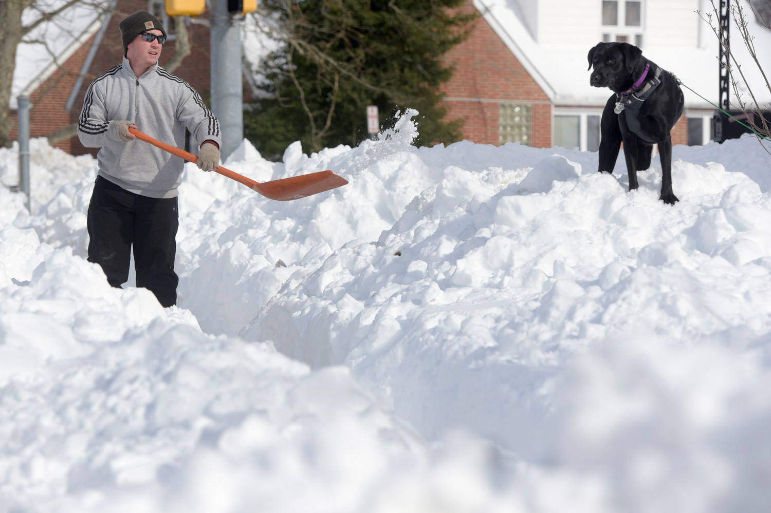 More than a foot of snow for some as nor'easter arrives