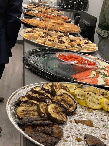 Numerous local platters of delicious Italian foods were offered by local hot spot The Kitch.