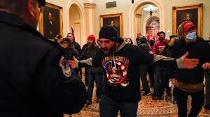 This is the scene inside of the Capital, as Trump minions attempt to overthrow the government.