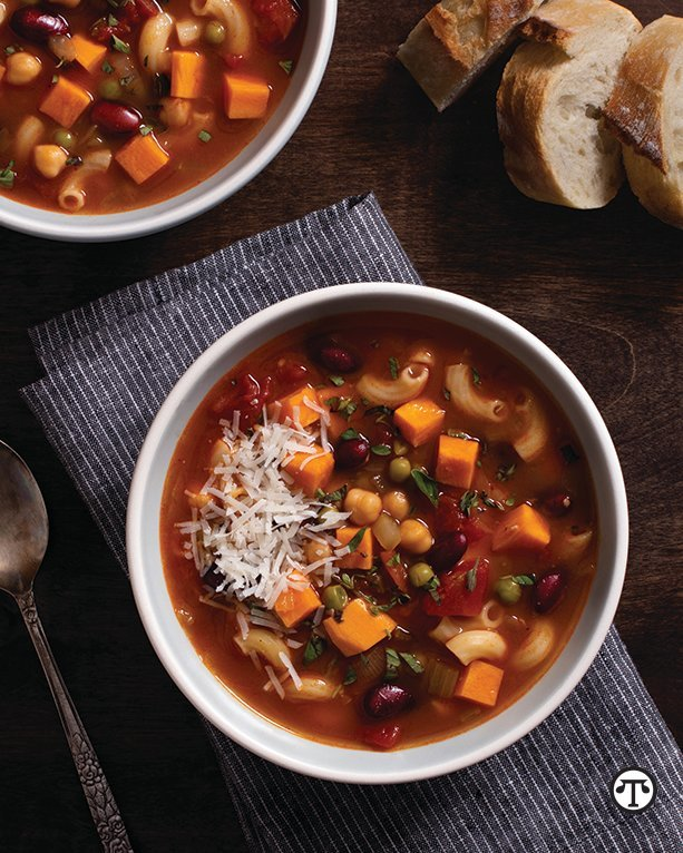 Light, hearty and healthy enough to enjoy throughout the year, ­California Sweetpotato Minestrone Soup is a great dish to add to your ­repertoire.