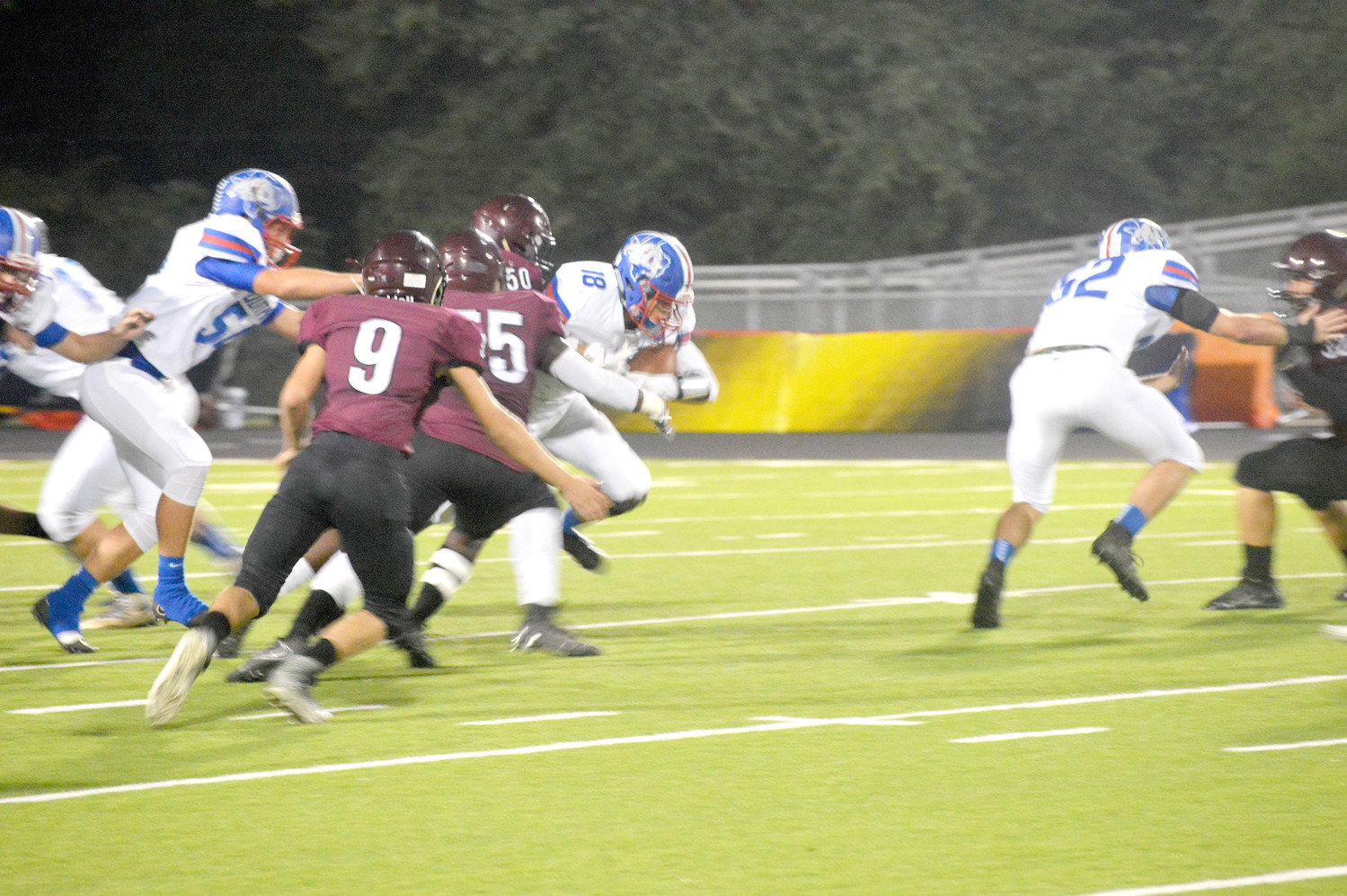 Dylan Coe gains some tough yardage in Friday's game at Arp.