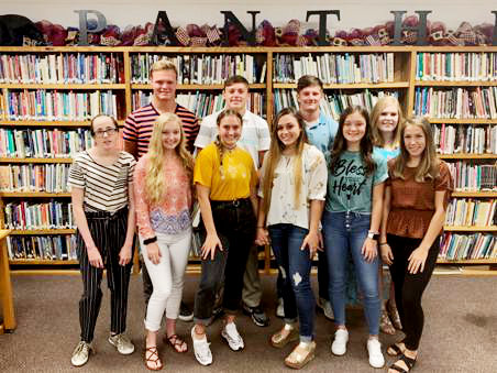 The 2019 Alba-Golden Homecoming court has been announced. The queen and king will be announced at 7 p.m. prior to the Honey Grove football game. This year's court: (front row, left to right) Jessis Weddle, Jordan Barnhart, AnnMarie Pendergrass, Bralee Littlejohn, Carlee Dooley and Hope Wiley; (back row, left to right) Donny Humphries, Joh Michael Chadwick and Chris Chabaud. Not pictured Matthew Rogers. (Courtesy photo)