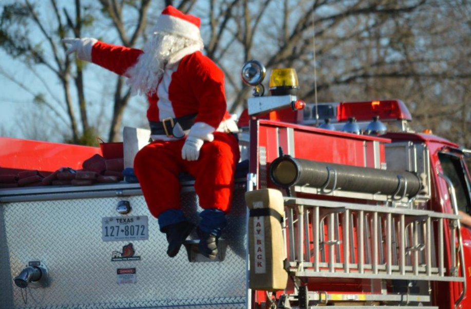 The Yantis Volunteer Fire Dept. made sure the local folks got a head start on Christmas as they ushered Santa Claus into the One Holy Night festivities in downtown Yantis.